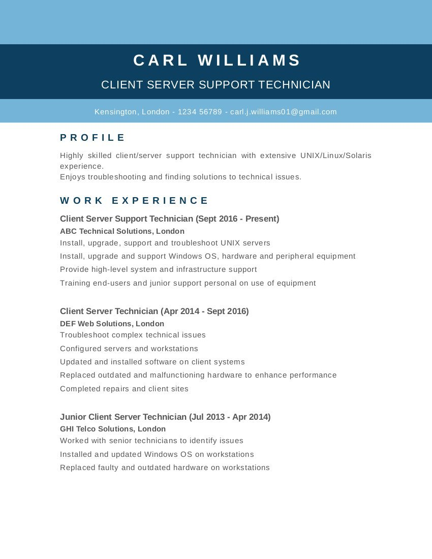 free cv templates  examples and tips